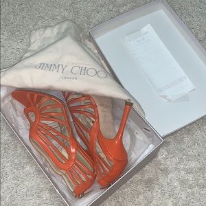 Jimmy choo lightly worn orange heels